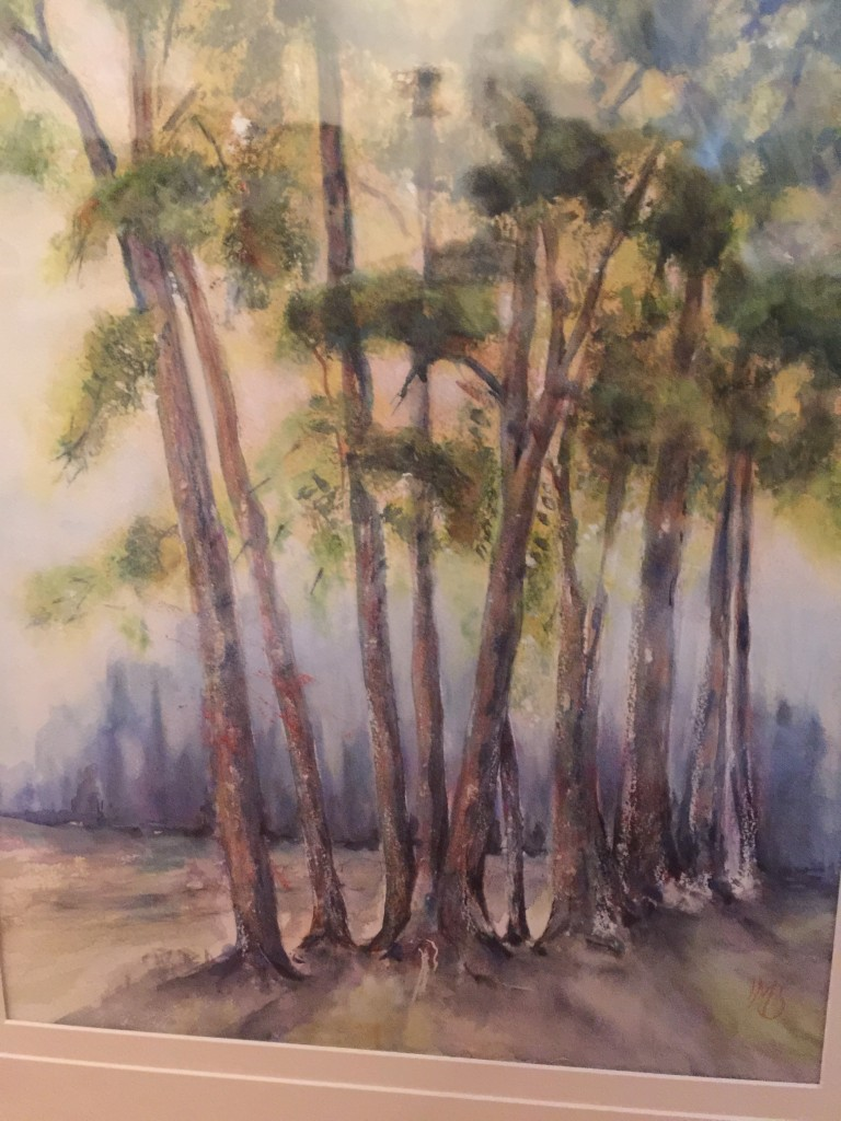 "Seeing The Wood For The Trees - watercolour- two available 22x18"" and one larger"